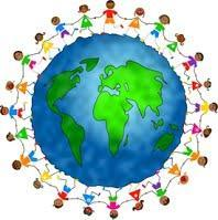 Picture of children holding hands around the Earth