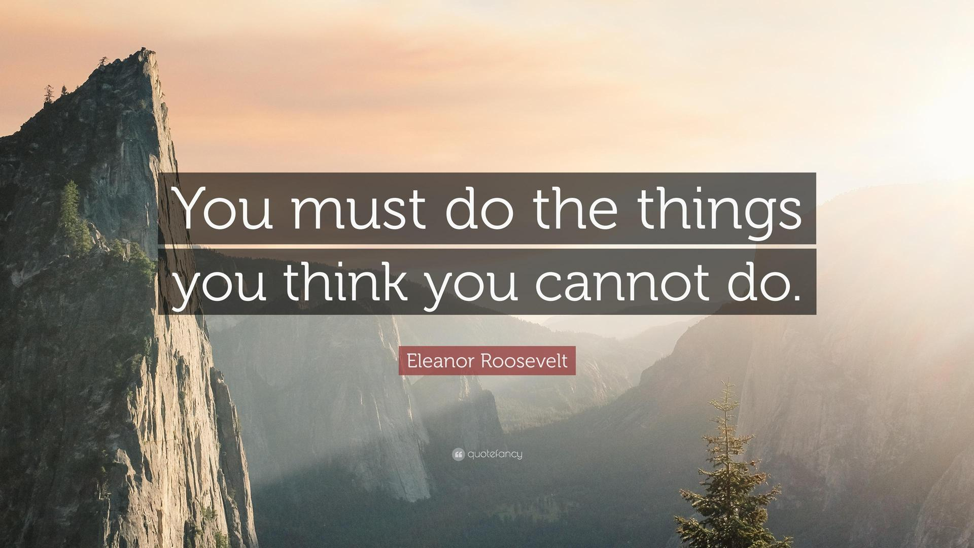 do what you think you can't