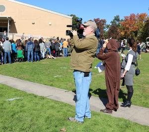 A News 12 New Jersey crew was on hand to capture the fun at Jefferson's Halloween parade.