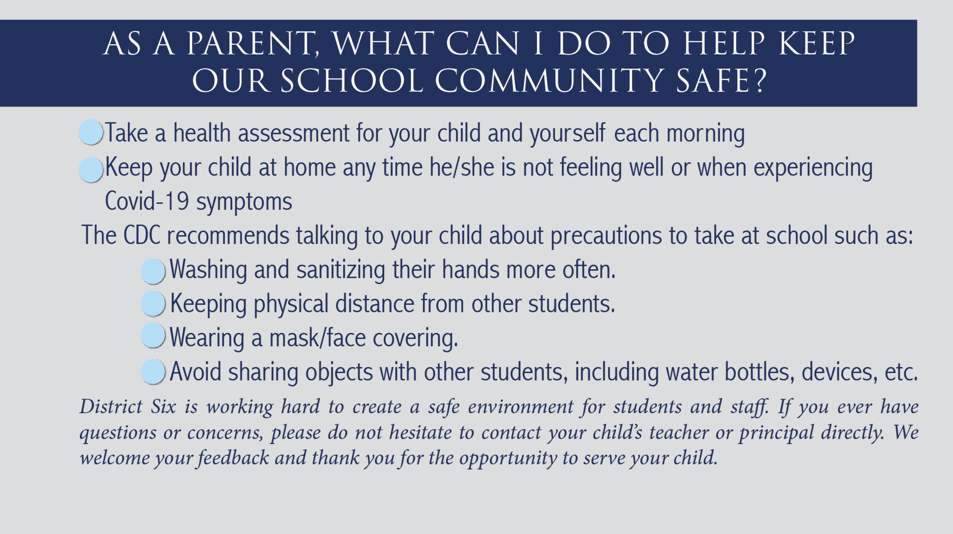 How parents can help keep