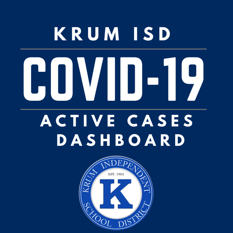 Krum ISD Active COVID-19 Cases Dashboard Featured Photo