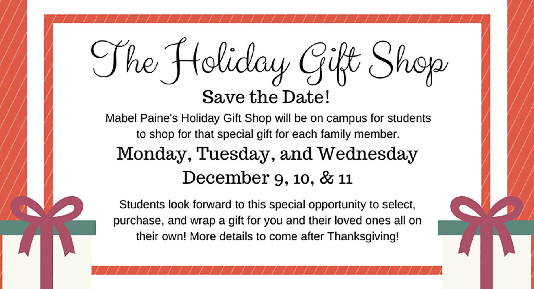 The Holiday Gift Shop 2019