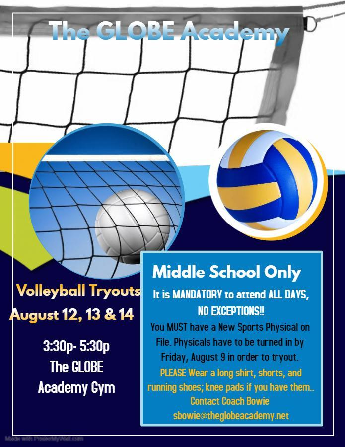 GLOBE Volleyball Tryouts