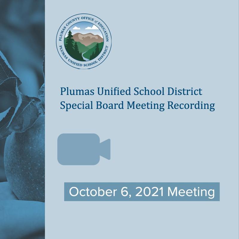 10/6 PUSD special board meeting recording