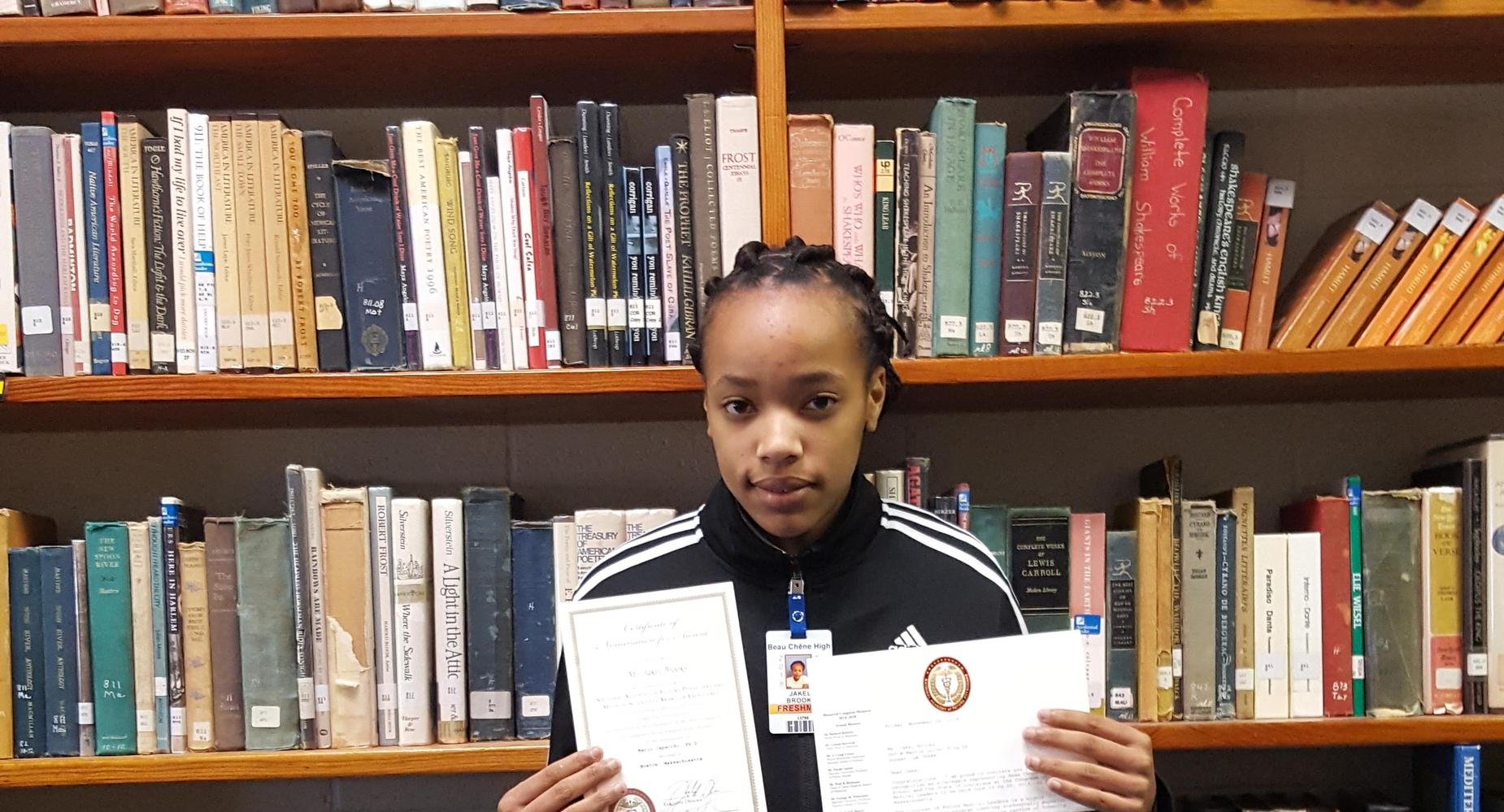 Jakel Brooks was nominated for the National Academy of Future Physicians and Medical Scientists Award of Excellence.