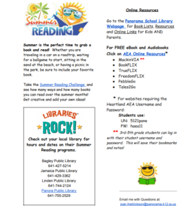 Panorama community schools summer reading resources for elementary students fandeluxe Gallery
