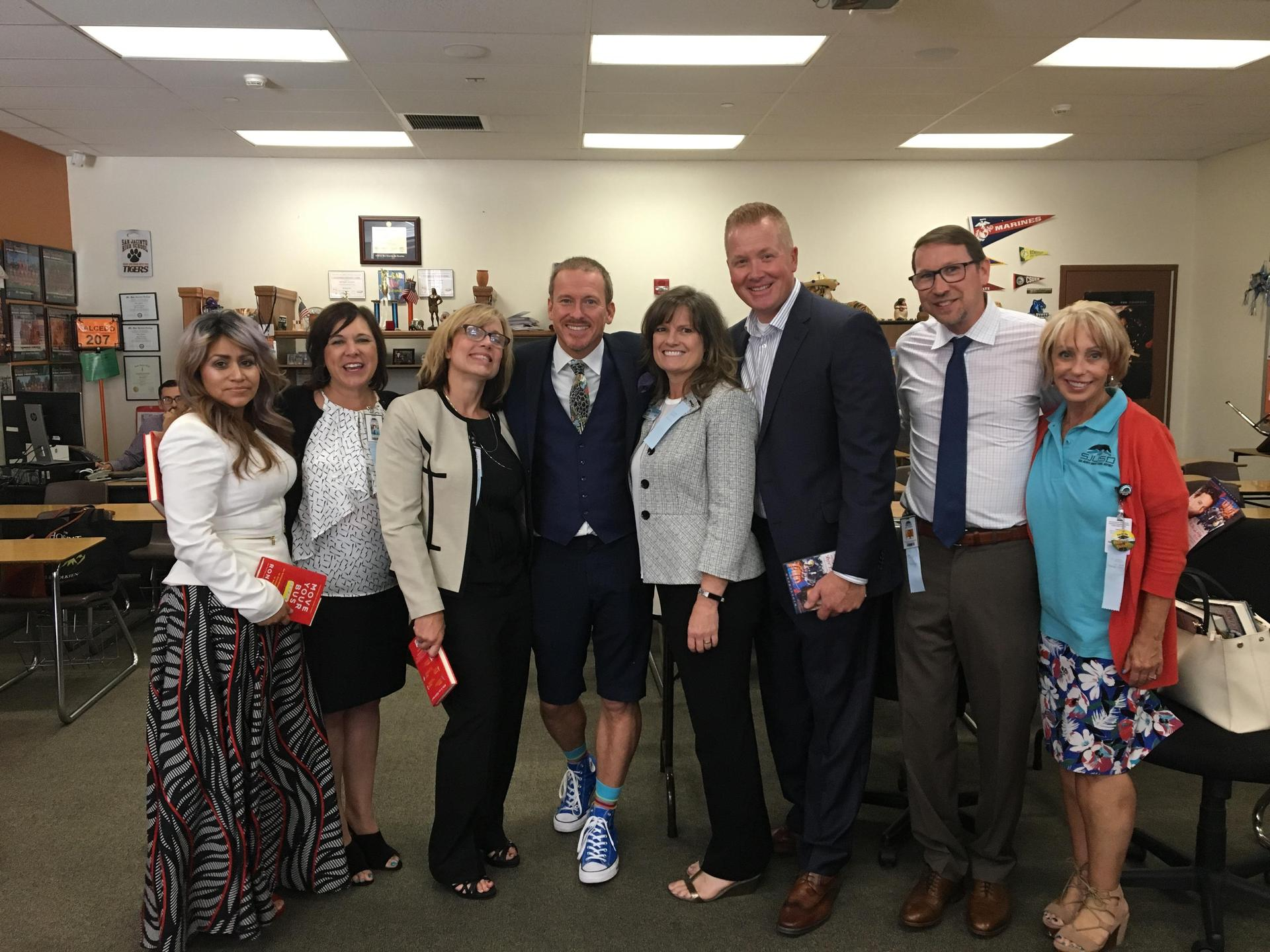 Ron Clark Visited SJUSD