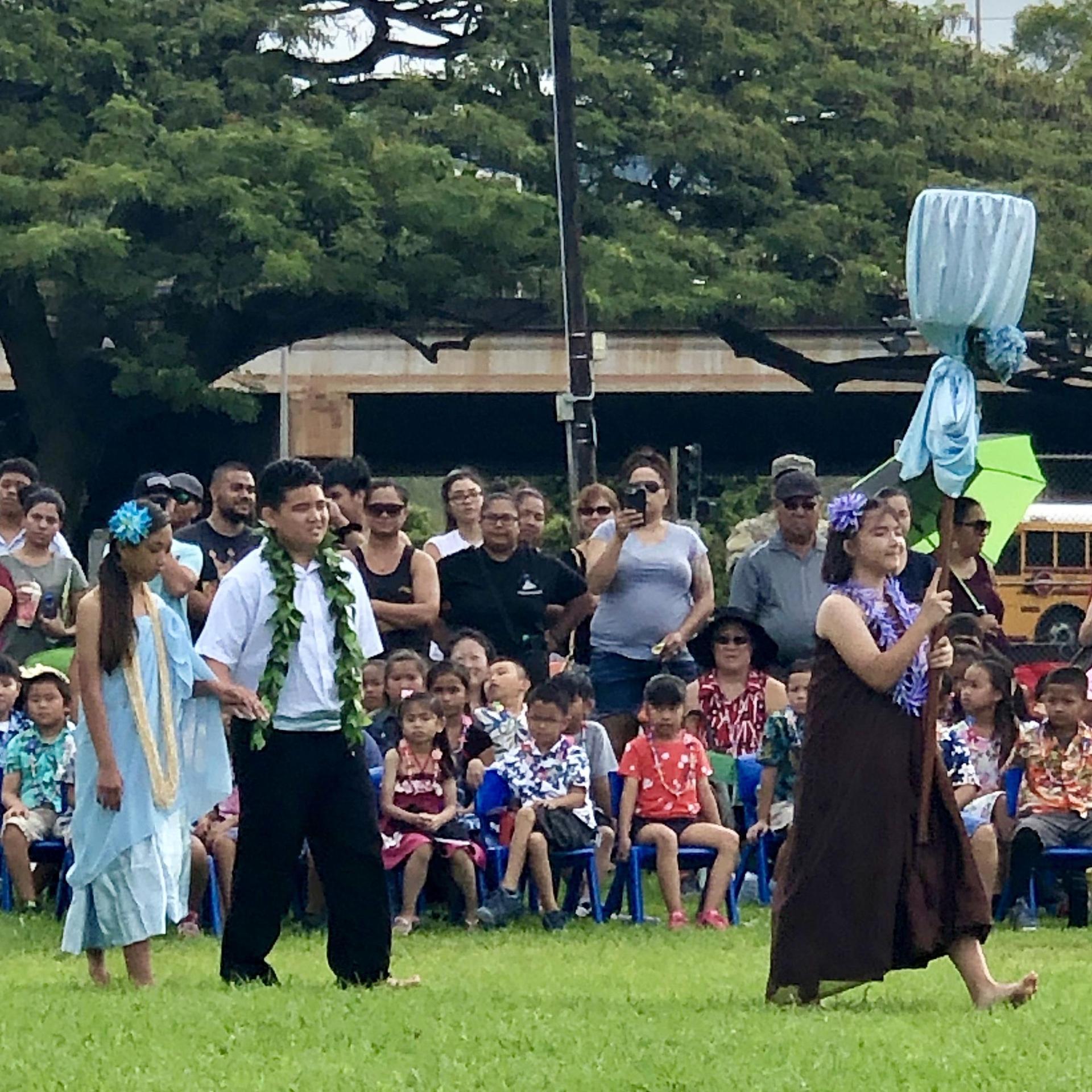 Niihau island princess and escort