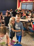 New kinder finds big brother at lunch