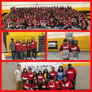 District day of service picture montage