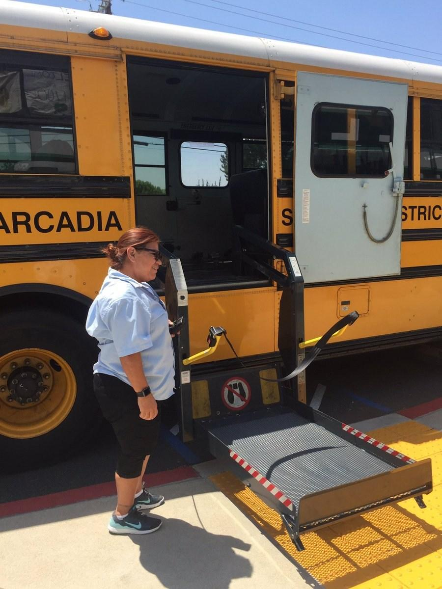 wheel chair school bus
