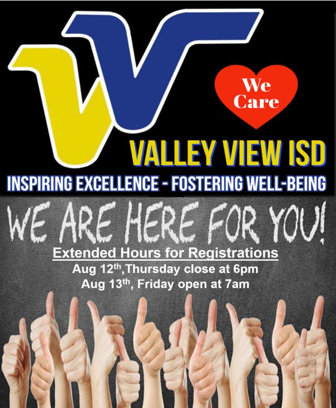 Valley View North Student Registration/Registro de Estudiante de Valley View North Thumbnail Image