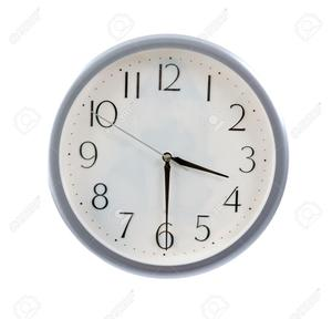clock set at 3:30PM