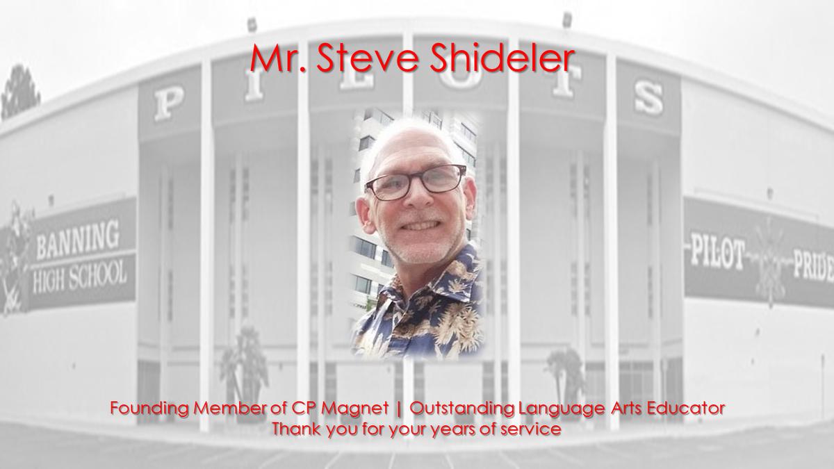 Memoriam Steven Shideler 9/17/1951 - 5/9/2018