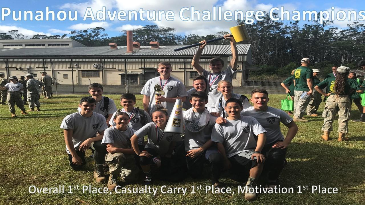 AFJROTC takes 1st place in Challenge