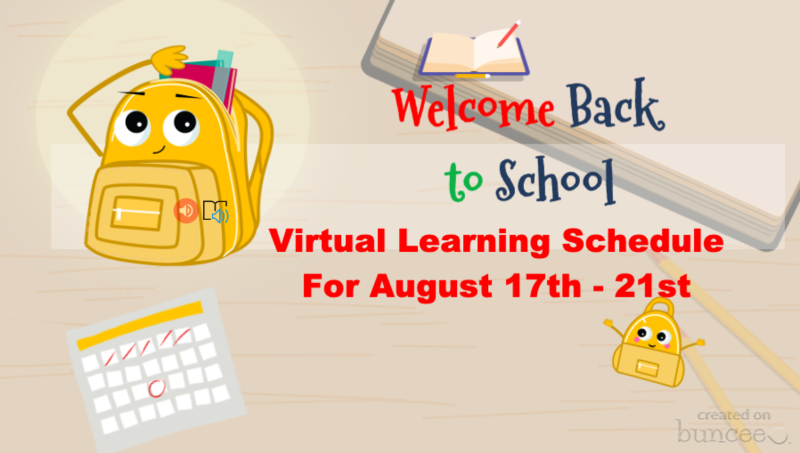 Back to school backpack - schedule for August 17-20