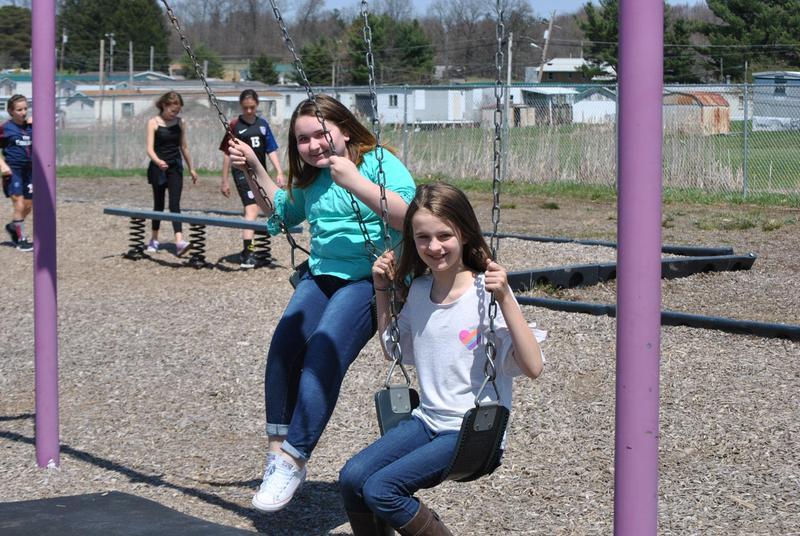 Girls on playground.