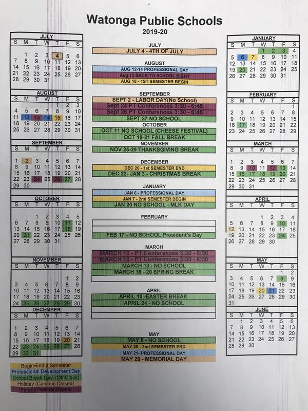 2019-2020 Academic Calendar Featured Photo