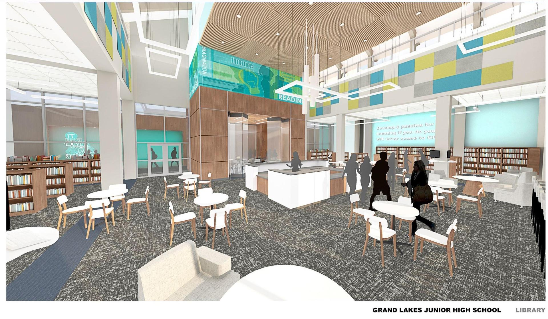 Grand Lakes JHS Library Rendering