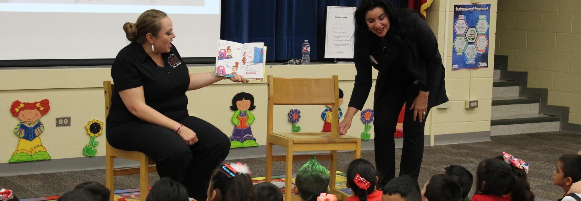 Board members read to students