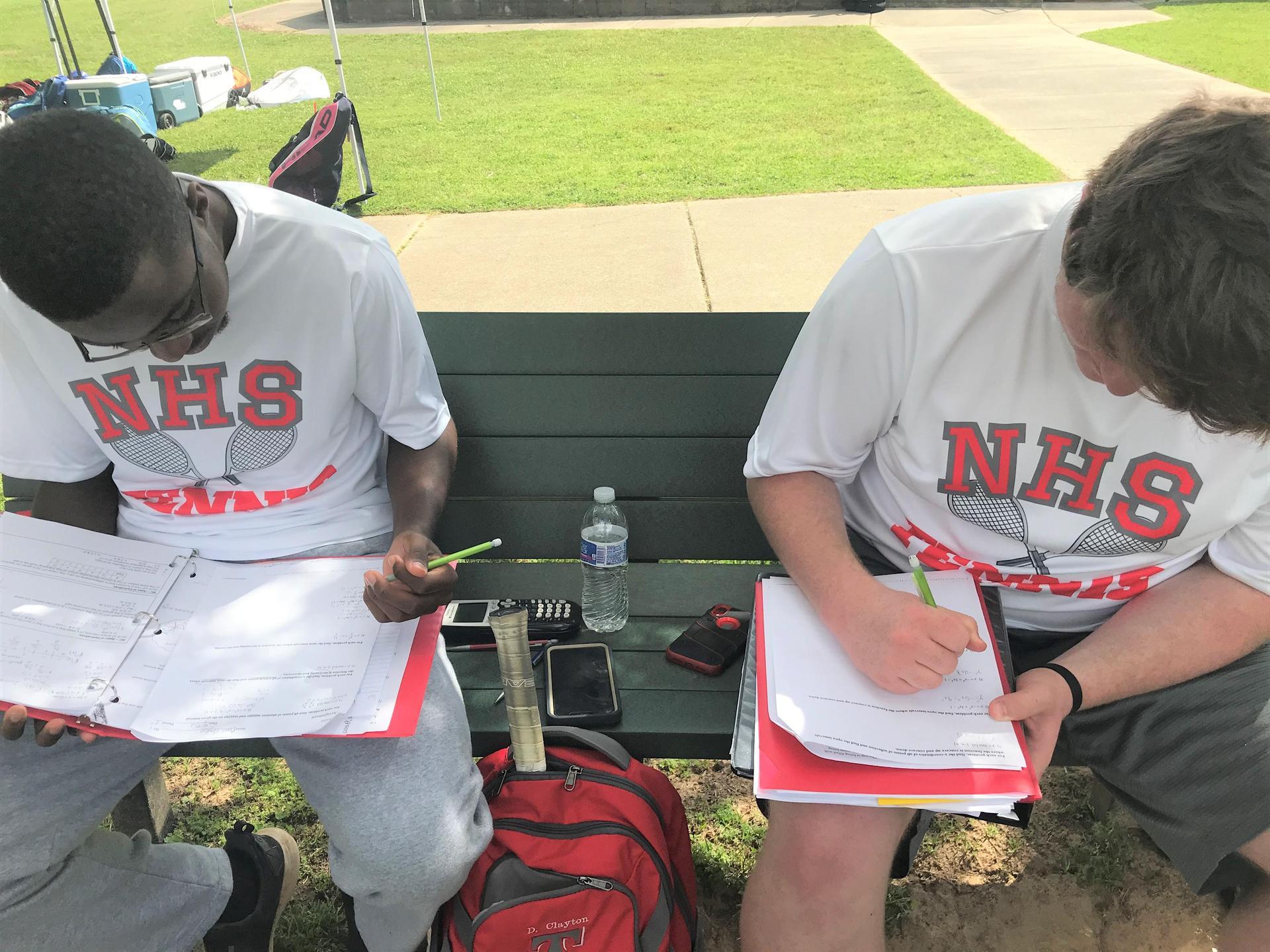 NEHS Tennis Student-Athletes