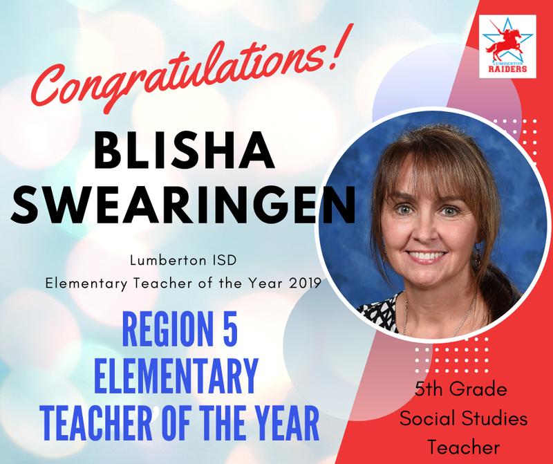 Belisha Swearingen Teacher of the Year