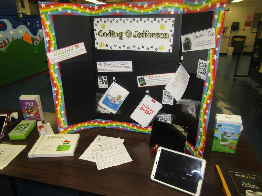coding at Jefferson display table