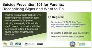 Suicide Prevention 101 for Parents