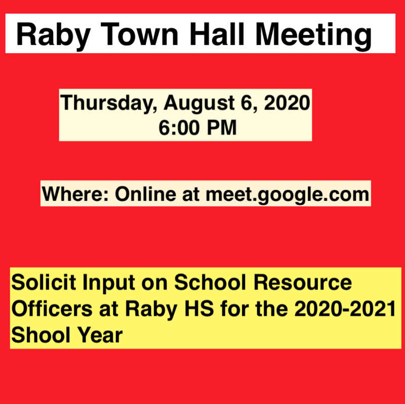 Raby Community Online Town Hall Meeting Featured Photo