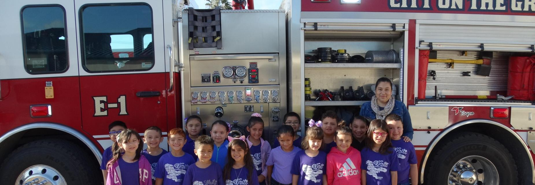 Alton FD with students