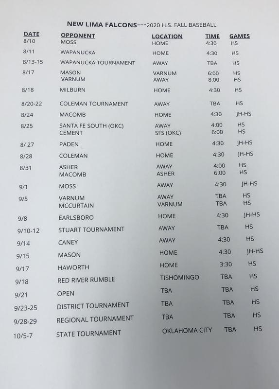 **UPDATED** Baseball Schedule Featured Photo