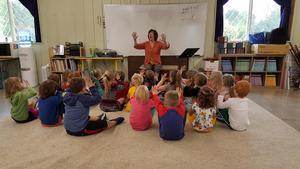 Kindergarten class in music