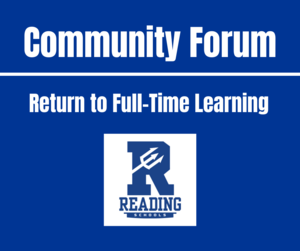 community forum - return to full-time learning