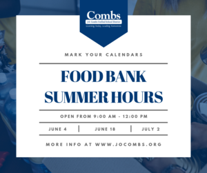 Summer Food Bank Hours