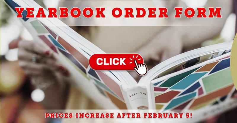 Yearbook Order Form: Prices Increase After February 5, 2021!