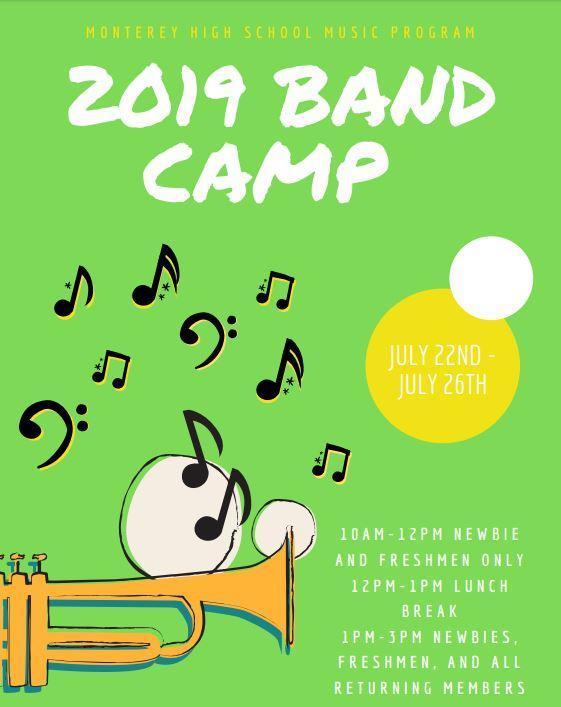 Summer Band Camp 2019