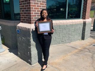 The Business and Technology Scholar Receives DECA State Competition Award 2020