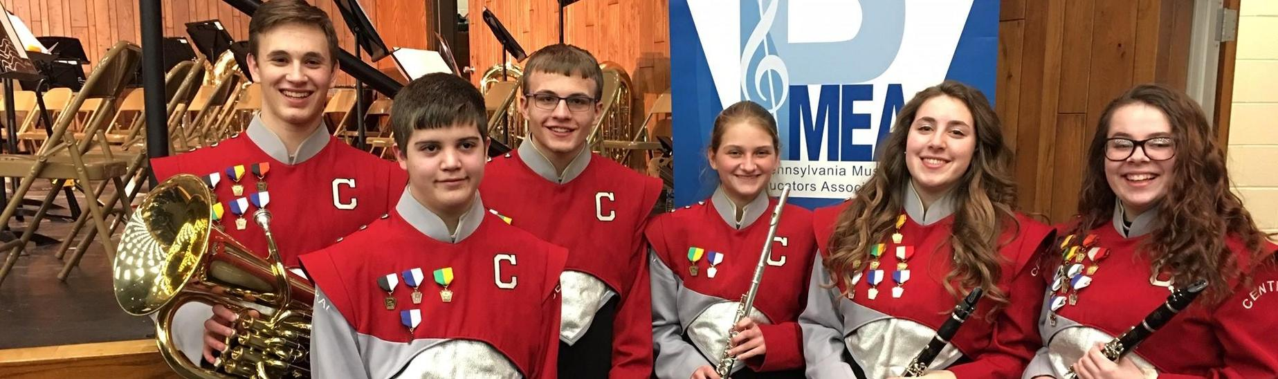 Regional Band (March 7-8). Katie Ponder (far right) is advancing to the State Band Competition for Clarinet.