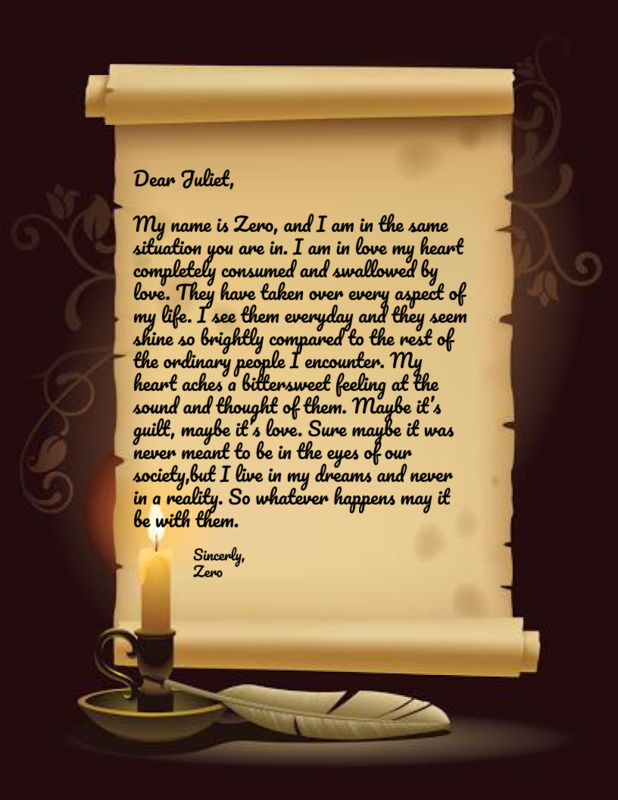 Letter to Juliet from Zero
