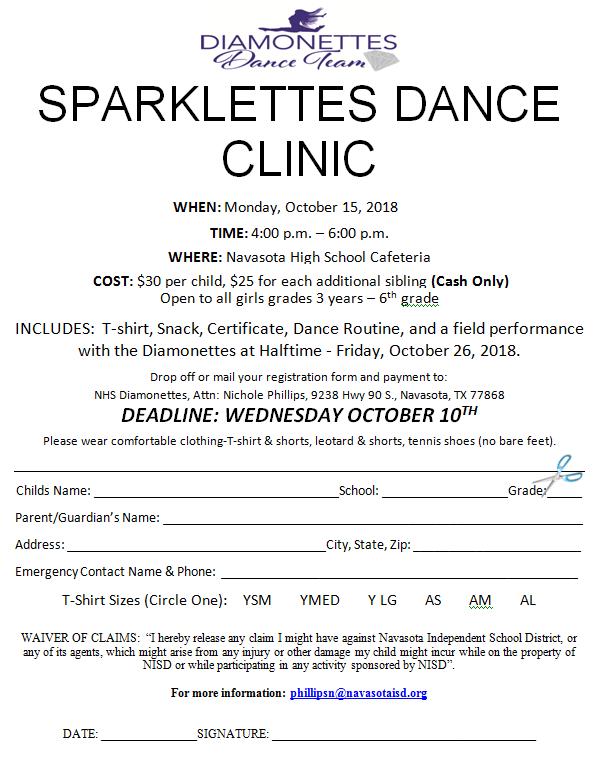 SPARKLETTES DANCE CLINIC Featured Photo