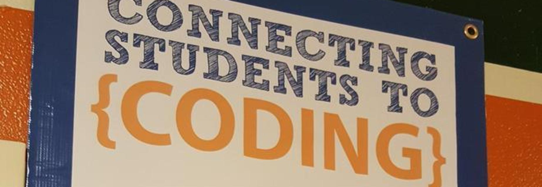 Alton Memorial Jr High is Connecting students to {CODING} via CODE / INTERACTIVE