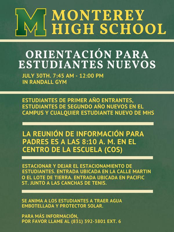 Orientación para nuevos estudiantes