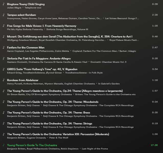 DSO Spotify Playlist