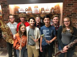 All-Area band students
