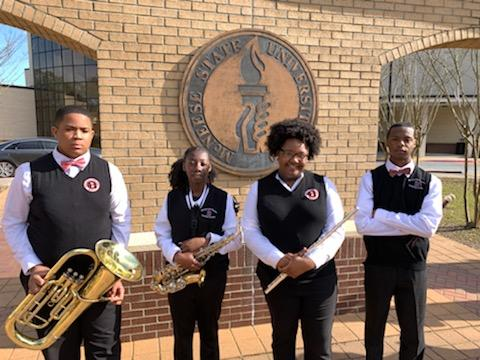 4 BHS Symphonic Band Students  @ McNeese State University