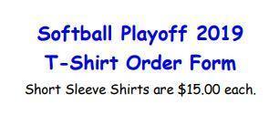 Softball Playoff T-Shirt Order Form Thumbnail Image