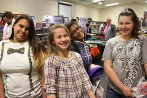 Students at the Book Fair