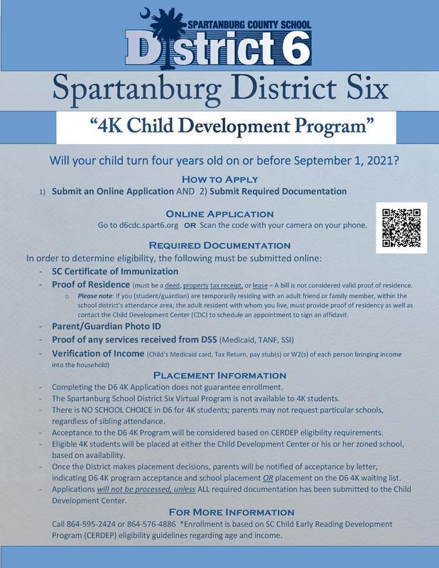 4K enrollment information