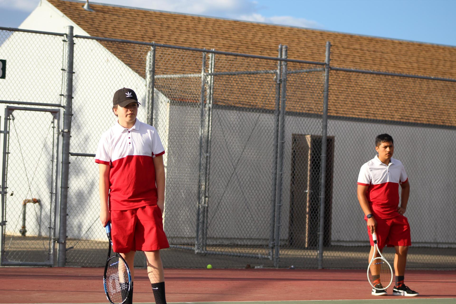 Chowchilla boys playing tennis against McLane