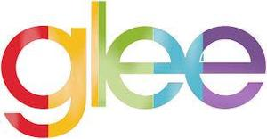 the word Glee in rainbow colors